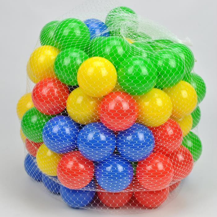 Indoor Outdoor 100 Colour Plastic Soft Play Balls - Playpen Tent Cubby House - Aussie Baby