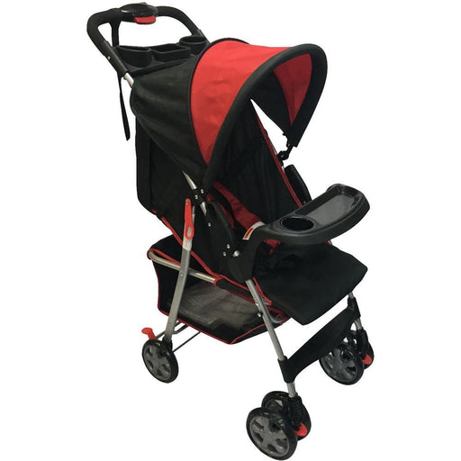 Aussie Baby Lite Weight Stroller - Red - Aussie Baby