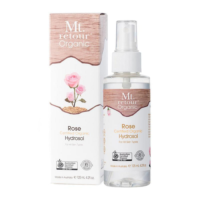 Mt.Retour Certified Organic Rose Hydrosol (MR46) 125mL - Aussie Baby