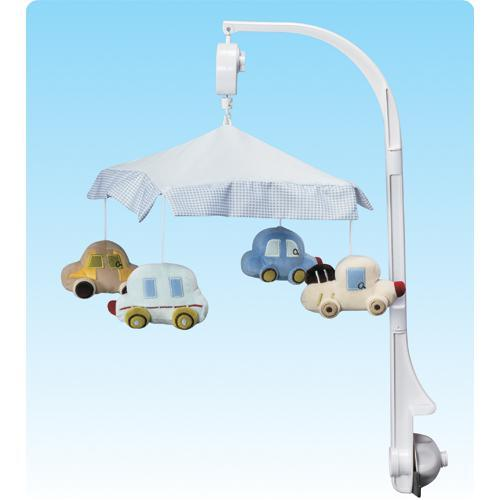 Musical Baby Cot Mobile - Cars Vehicle Themed