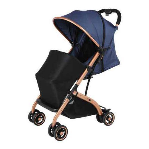 Aussie Baby Smart Travel Pram - Blue - Aussie Baby