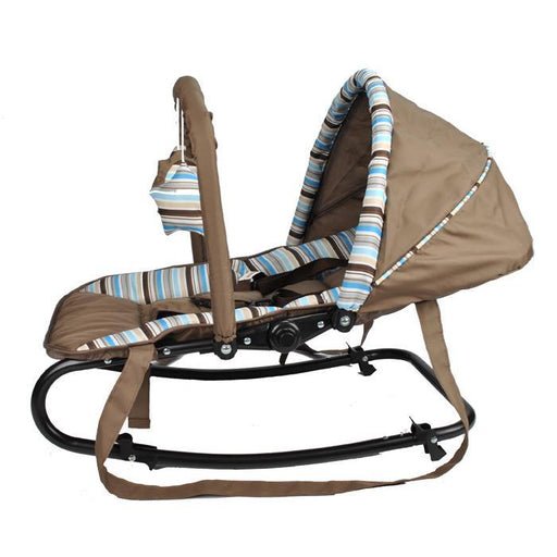Harmony Baby Rocker with Canopy & Toys - Cofee Brown - Aussie Baby