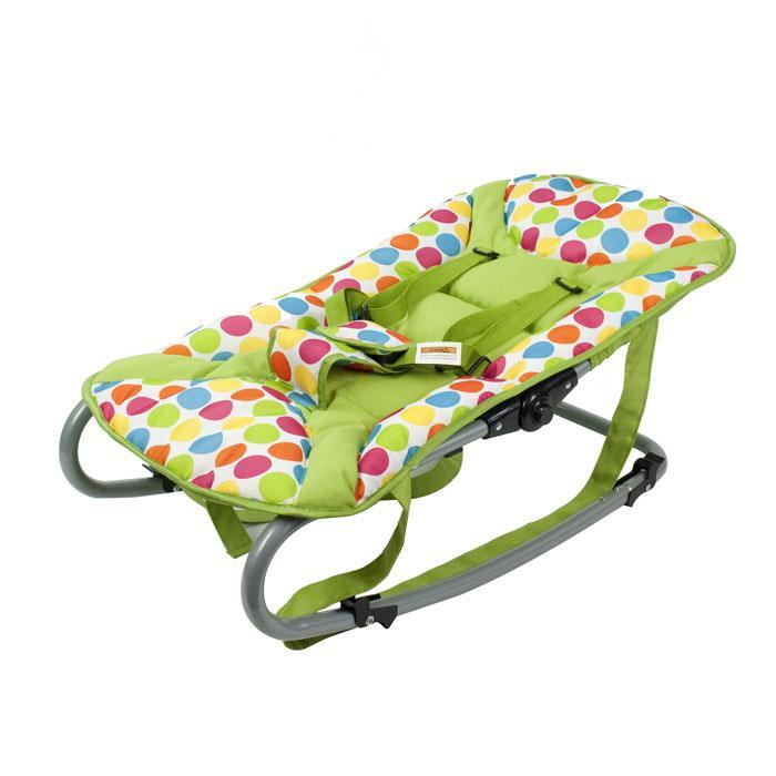 Harmony Baby Rocker with Canopy & Toys - Green - Aussie Baby