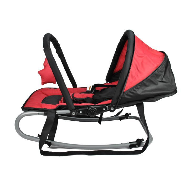 Harmony Baby Rocker with Canopy & Toys - Red - Aussie Baby