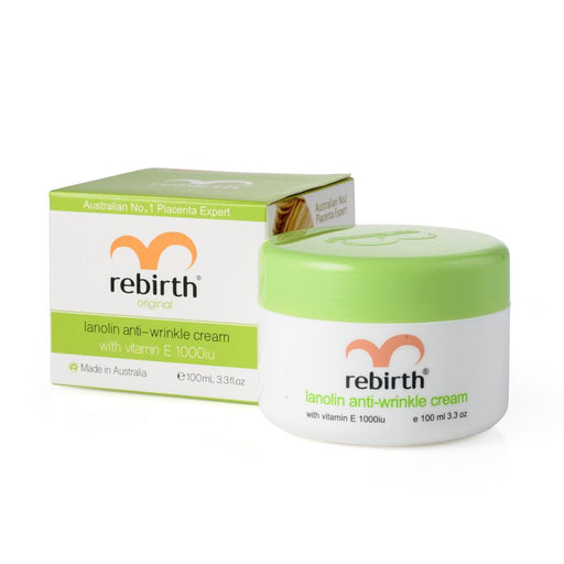 Rebirth Lanolin & Vitamin E Anti-Wrinkle Cream 100g - Aussie Baby