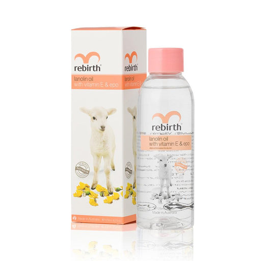 Rebirth Lanolin Oil with Vitamin E & EPO 125mL - Aussie Baby