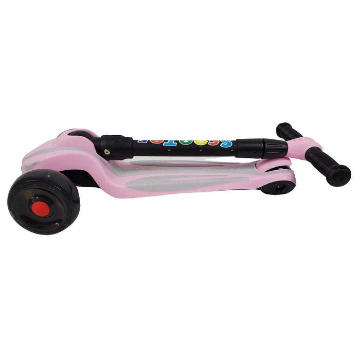 Super Max Kids Foldable Scooter with Flashing Wheels - Pink - Aussie Baby