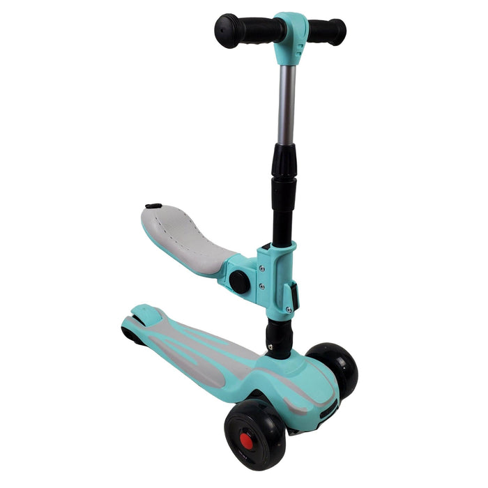 Super Max 2-in-1 Kids Foldable Scooter & Ride On - Aqua - Aussie Baby
