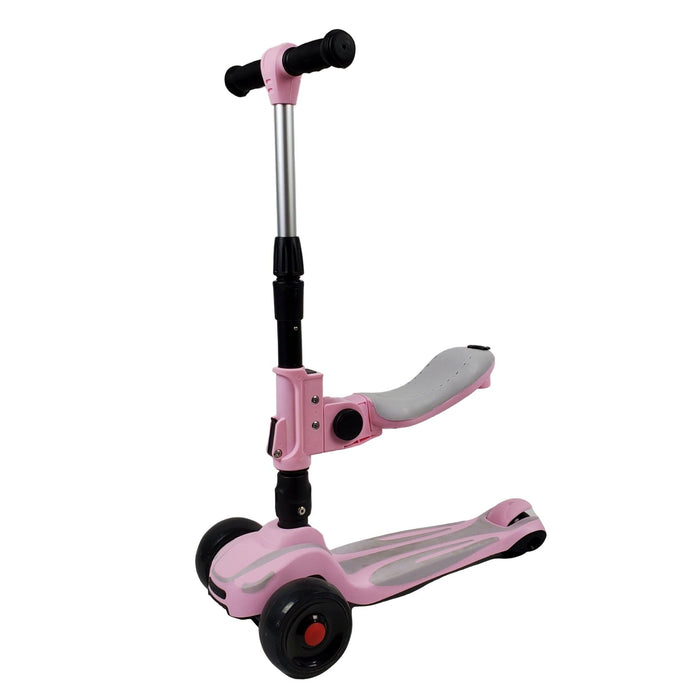 Super Max 2-in-1 Kids Foldable Scooter & Ride On - Pink - Aussie Baby