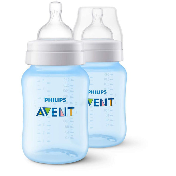 Philips Avent Classic+ Baby Feeding Bottle 260ml 1m+ (2 pack) - Aussie Baby