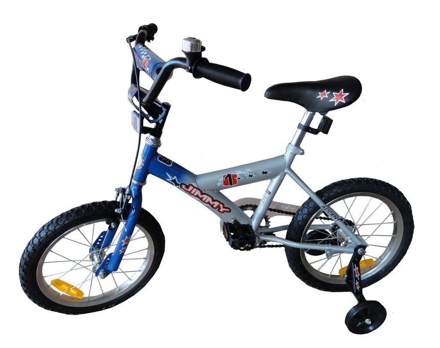 Blue Jimmy 16 Inch Kids Push Bike with Training Wheels - Aussie Baby