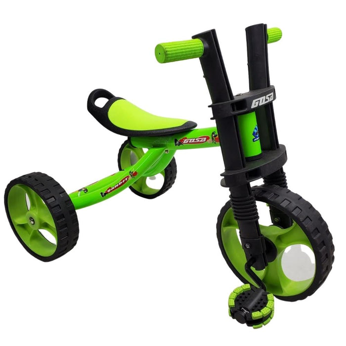 Supermax 12 Inch Kids Tricycle 3 Wheels Toodler Trike - Green