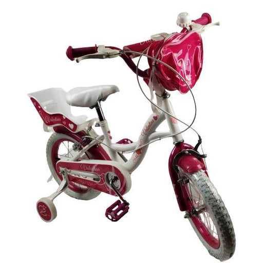 Supermax Pink Purple Valentina 14 Inch Girls Bike - Aussie Baby