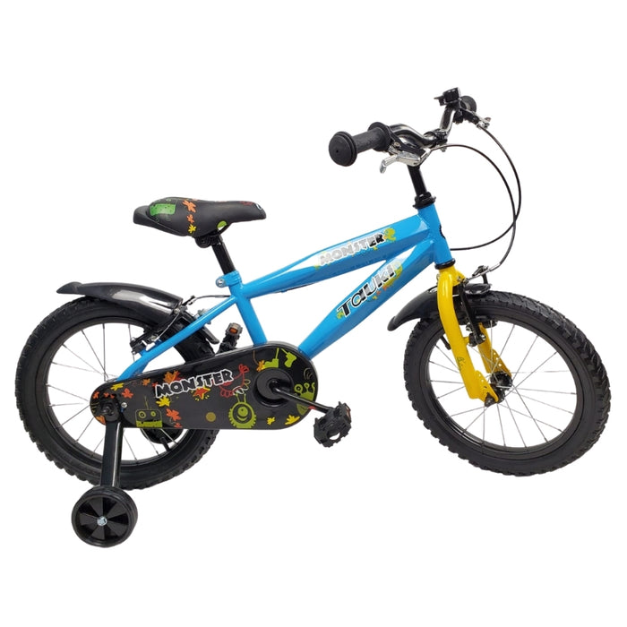 Supermax Monster 16 Inch Kids Push Bike - Blue