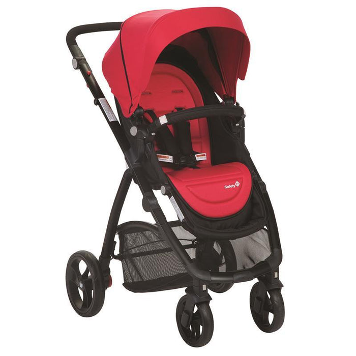 Safety 1st Visto 4 Wheel Stroller - Red - Aussie Baby