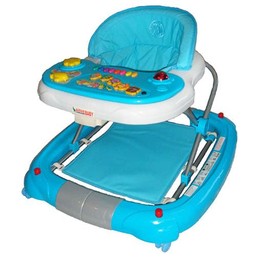 Deluxe Blue Musical Baby Walker Rocker Activity Play Centre - Aussie Baby