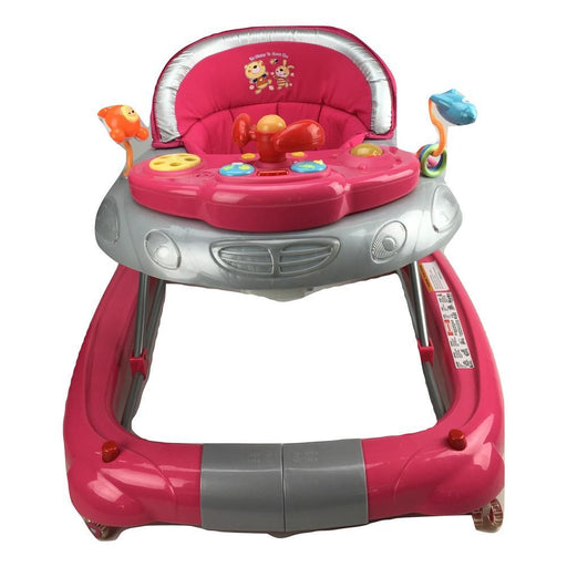 Fuchsia Pink Car 2-in-1 Baby Walker & Rocker - Aussie Baby