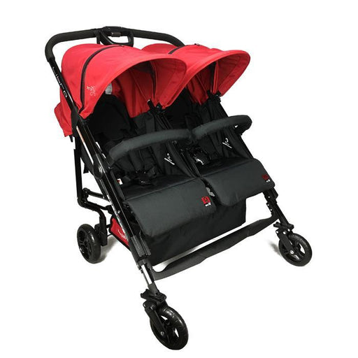 Baby Ace Libra Twin Stroller - Red - Aussie Baby