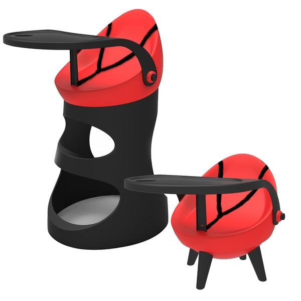 TCV 5 In 1 High Chair - Red - Aussie Baby