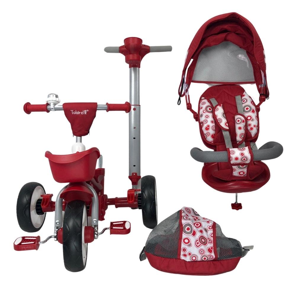 Deluxe Foldable Trike with Parent Control - Red