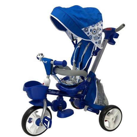 Deluxe Foldable Trike with Parent Control - Sky Blue