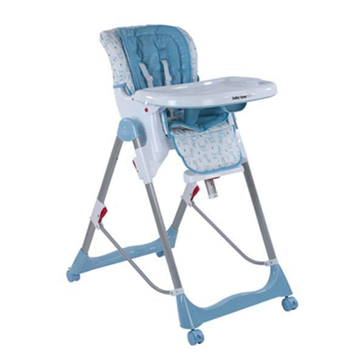 Baby Love Avalon Hi Lo Highchair - Caribbean Blue - Aussie Baby