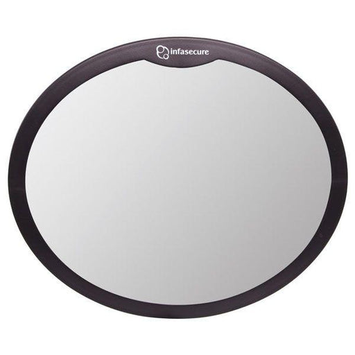 Infa Secure Large Round Mirror Black - Aussie Baby