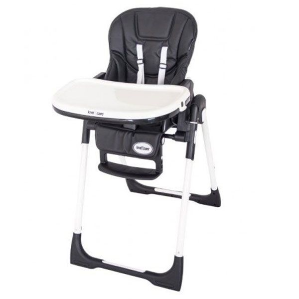 Love N Care Deluxe Montana High Chair - Black