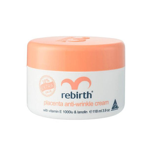 Rebirth Placenta Anti-Wrinkle Cream with Vitamin E & Lanolin 118ml - Aussie Baby