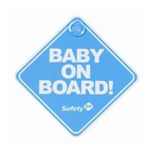 Safety 1st Baby On Board Sign - Blue - Aussie Baby