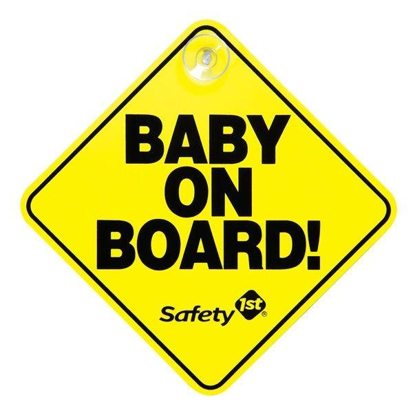 Safety 1st Baby On Board Sign Yellow - Aussie Baby