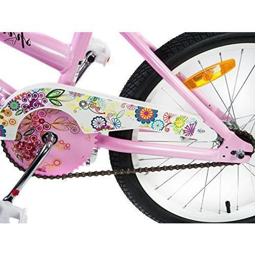 Supermax Floral 20 Inch Kids Push Bike - Pink