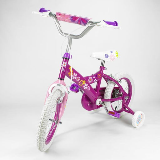 14 inch 34cm Girl Deluxe Bicycle Pink Bike with Training Wheels - Aussie Baby