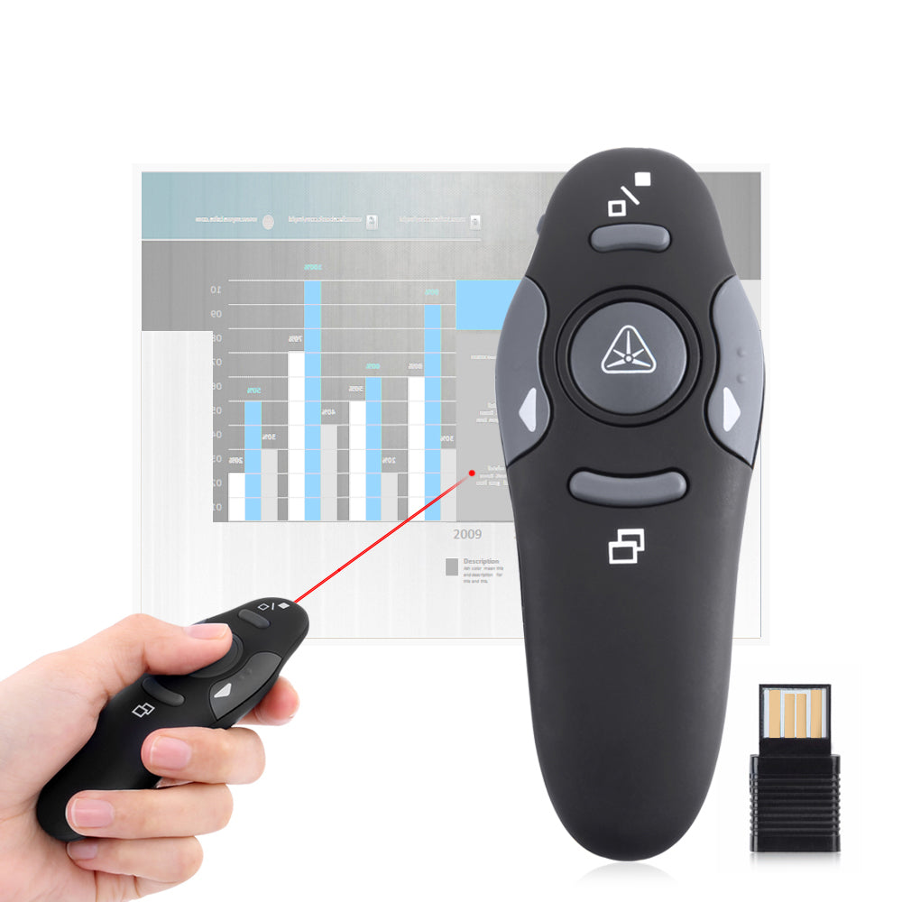 Wireless Presenter Laser Pointers O Cart Trend Shop Usb Rf For Laptop Black 10m Range