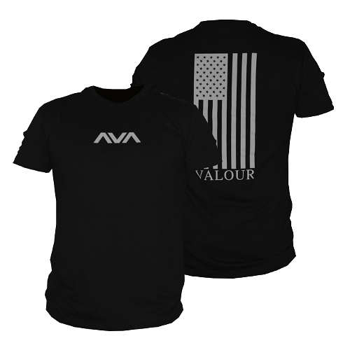 Vertical Valour Flag Tee - Men's