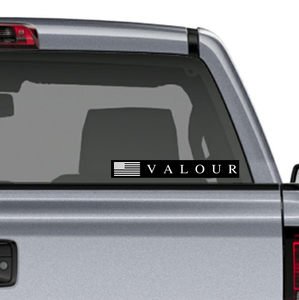 Valour Sticker: Black Background