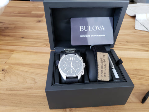 "Bulova ""Lunar Pilot"" Watch & Watchband SET 2 - MODERN"