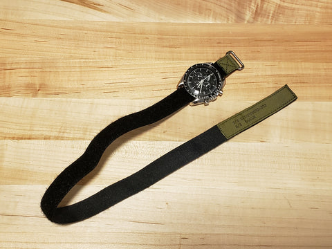 Long NASA watchband - MIL-SPEC - OD Green Tape - P/N SEB12100030-202