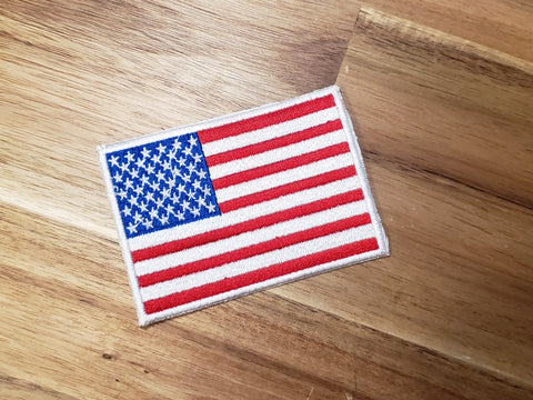 American Flag VINTAGE Embroidered Patch