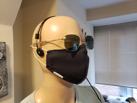 Non-Medical Fitted Cotton Mask - BLOCK II - UNIFORM NAVY