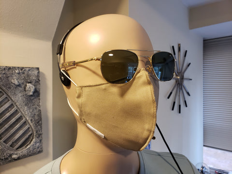 Non-Medical Fitted Cotton Mask - BLOCK II - UNIFORM KHAKI