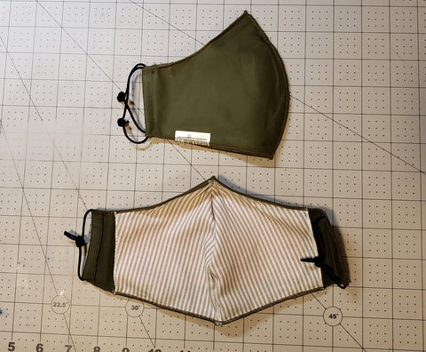 Non-Medical Fitted Cotton Mask - BLOCK II - OLIVE DRAB