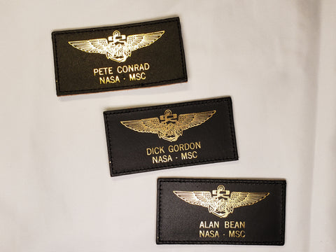 Apollo 12 Leather Nametag Set