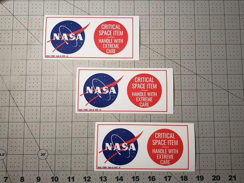 Apollo Critical Space Item Meatball Decal Set (3)