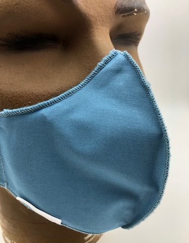 Non-Medical Fitted Cotton Mask - BLOCK II - BLUE