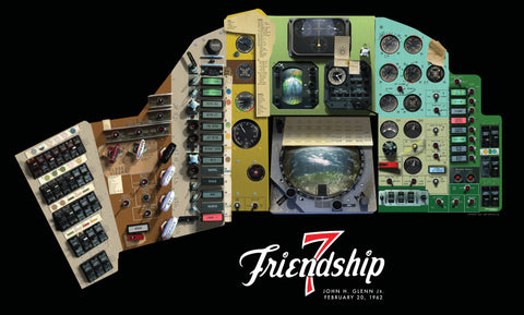 Mercury Friendship 7 Cockpit Banner Poster