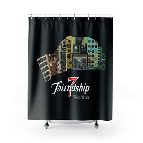 Mercury Friendship 7 Cockpit Panel Shower Curtain