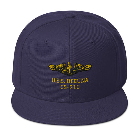 SUBMARINE BECUNA Embroidered Baseball Cap