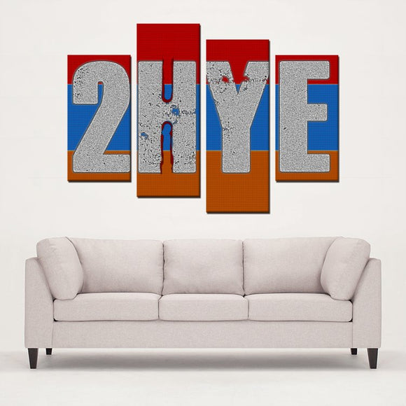 4 Panels Canvas Prints: 2-Hye and Proud