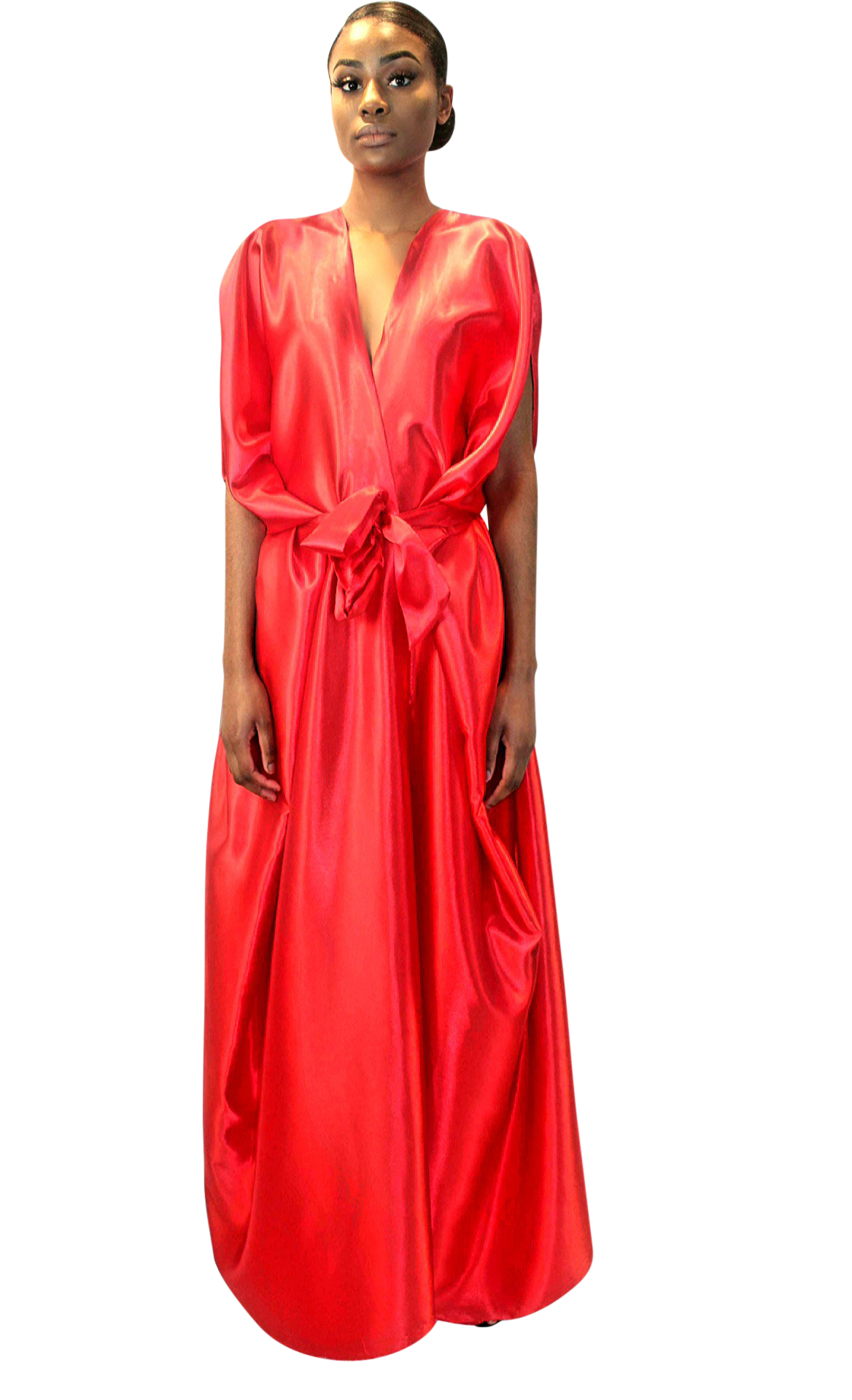 Florence red satin dress
